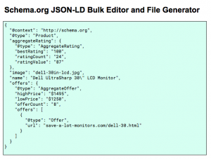 Schema.org JSON LD Bulk Editor for Google Sheets Step 1