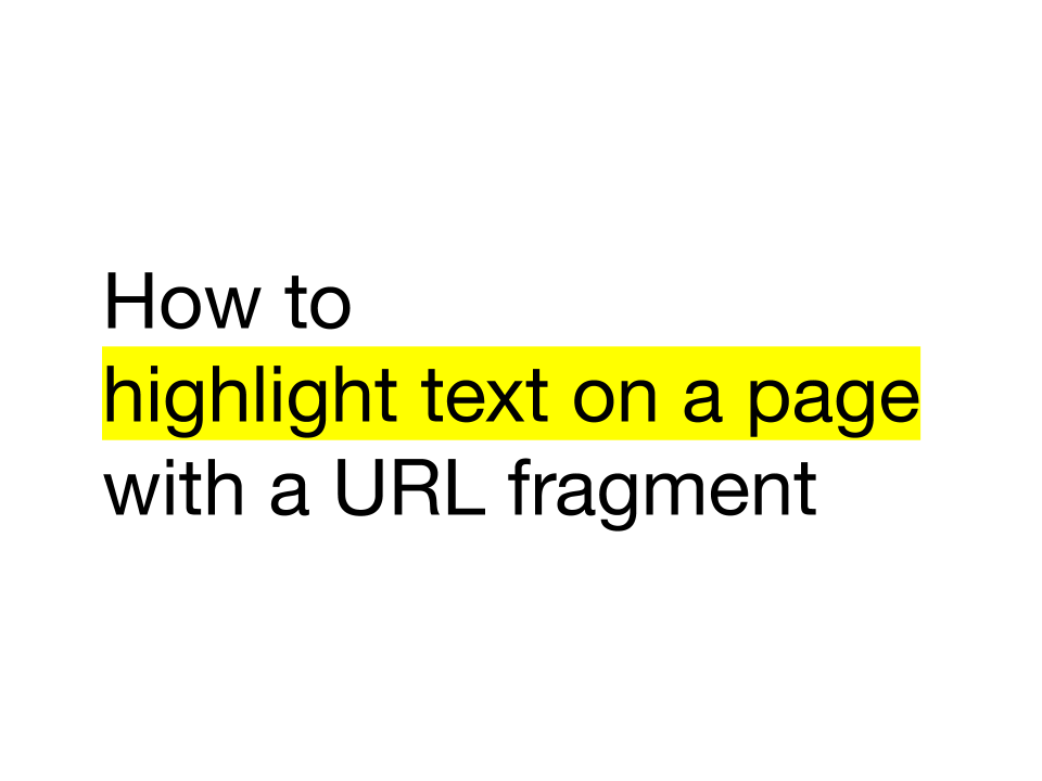 Scroll to Text Fragments